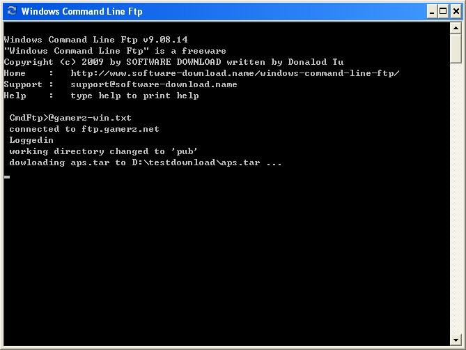 read ftp commands from text file
